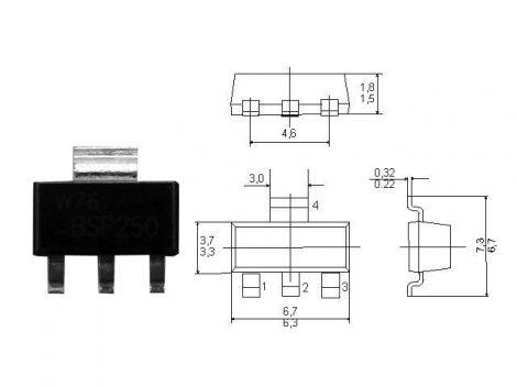 TS1117BCW-3,3 SOT223/LD1117S33CTR/